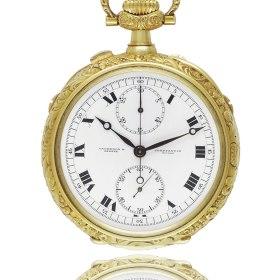Montre de poche chronographe-compteur 30 minutes de 1918 Vacheron Constantin