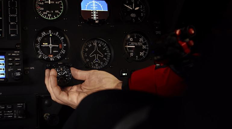 Hamilton Khaki Takeoff-cockpit