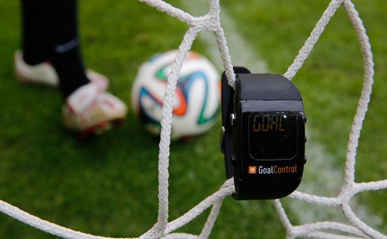 La smartwatch GoalControl qui permet de savoir si il a eu but