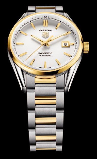 TAG Heuer Carrera Calibre 5 Automatic – 39mm – Steel & Yellow Gold