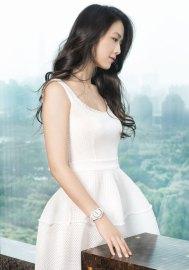 L'actrice Tang Wei avec montre Rado Ceramic Diamaster Blanc