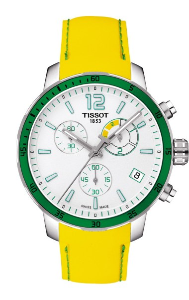 Tissot Quickster Football jaune et verte