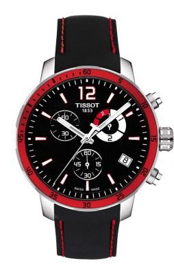 Tissot Quickster Football noire et rouge
