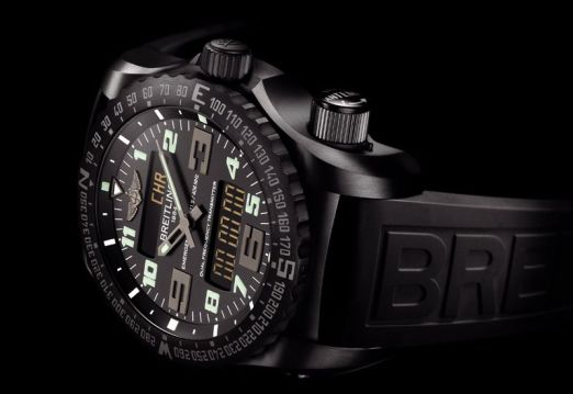Breitling Emergency Night Mission vue couchée