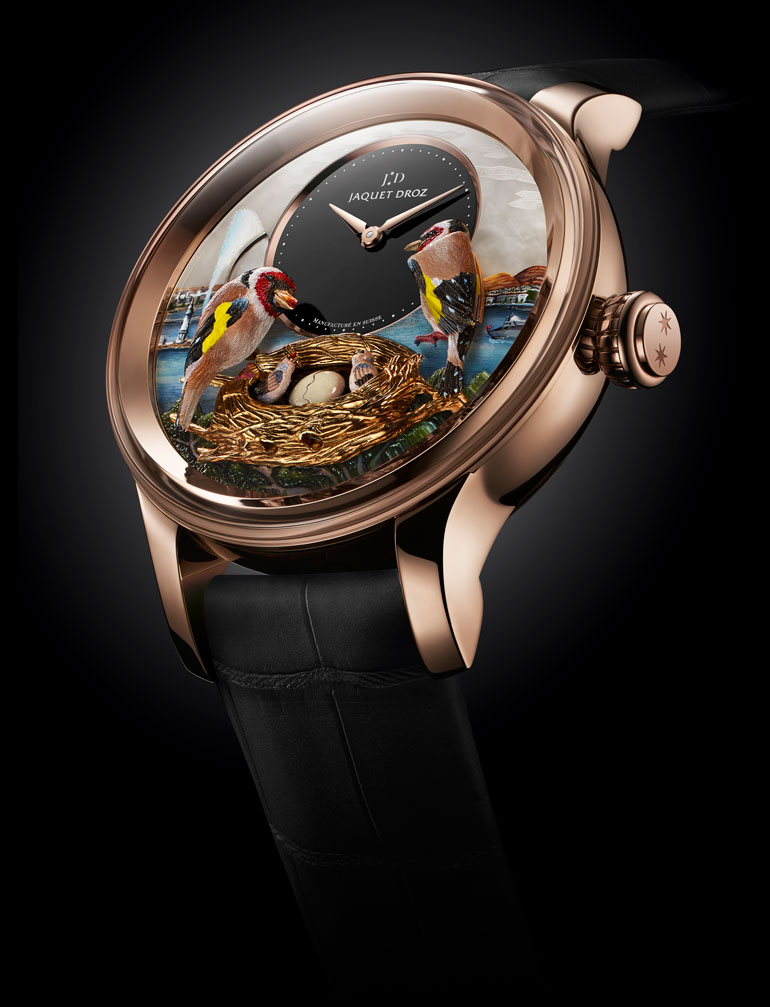 Jaquet Droz Bird Repeater Geneva vue pub