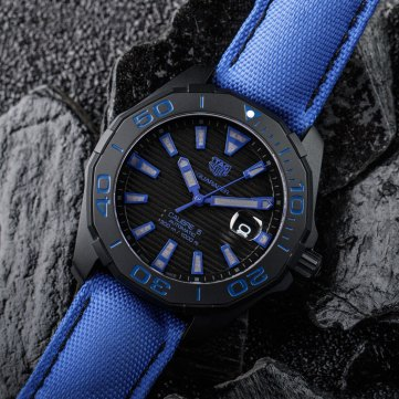 Tag Heuer Aquaracer 300M Black Titanium background