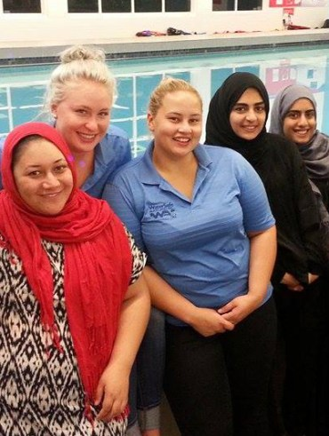 The first in a block of women's swimming lessons has been completed at Mt Roskill's Cameron Pools, with 40 women participating. The women completed eight swimming / water competence lessons and one water safety / lifejacket session.