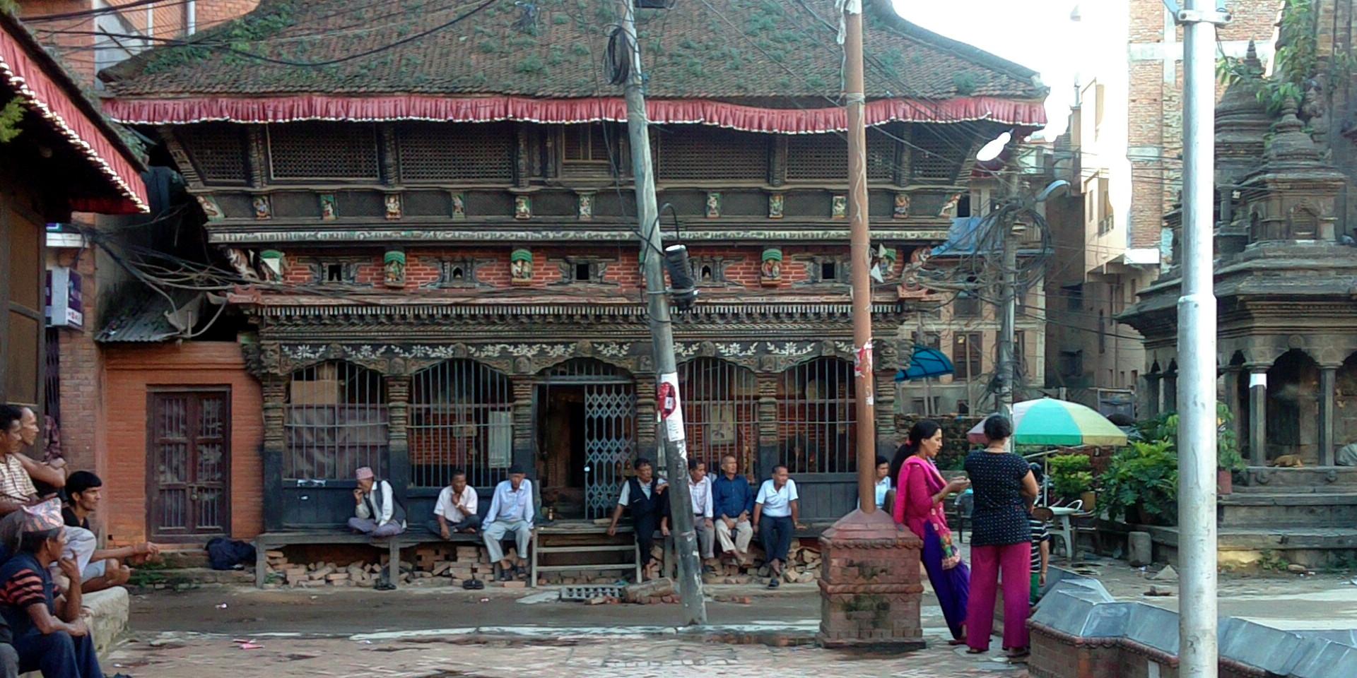 Patan street scene.