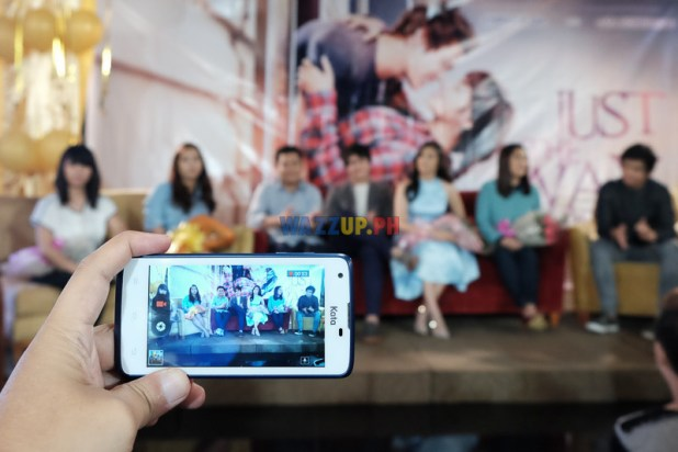 Kata F2 mobile phone in action at the Just The Way You Are Presscon with Liza Soberano and Enrique Gil