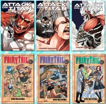 six manga books