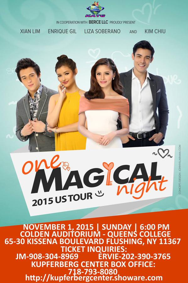 KimXi LizQuen at the One Magical Night in New York City