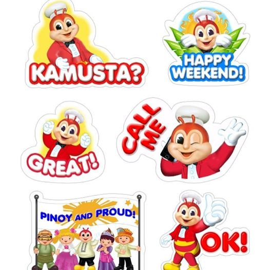 viber stikers from Jollibee Pinoy and Proud
