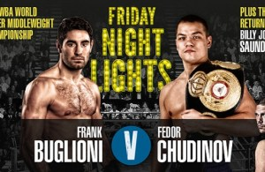 Chudinov captured the vacant WBA title on May 9 with a split-decision victory over multiple world champion Felix Sturm.