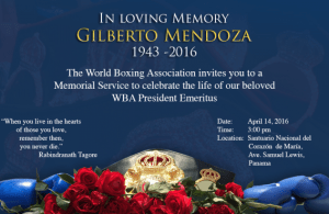 Memorial Service to celebrate the life of Gilberto Mendoza