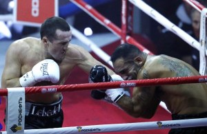 Congratulations to Denis Lebedev for unifying the WBA/IBF cruiserweight world titles. (AP Photo/Alexander Zemlianchenko)