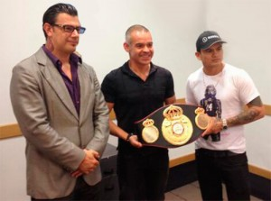 "Marcos ""Chino"" Maidana received WBA championship belt"