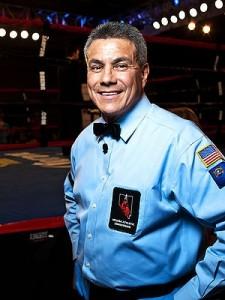 Referee Russell Mora