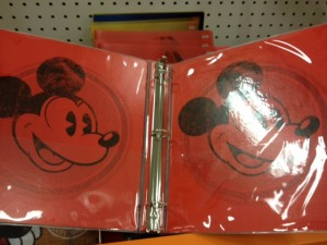 Mickey Mouse binder