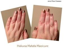 16 B FC WDW Radio Hakuna Matata Manicure