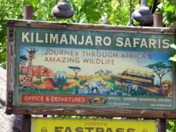 Kilimanjaro Safaris sign