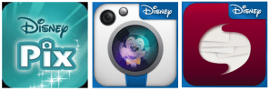 Disney Photo App Buttons