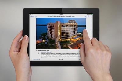 102 Ways To Save Money Walt Disney World - iPad 2