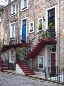 Huisjes Edinburgh Schotland