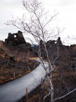 Dimmuborgir vulkanisch gesteente