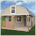 Weatherking Private Storage Painted Delux Lofted Cabin