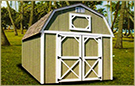 Weatherling Private Storage Painted Lofted Barn