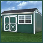Weatherking Private Storage Painted Cottage Shed