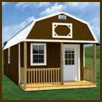 Weatherking Private Storage Painted Lofted Cabin