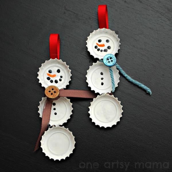 25 increibles  adornos de navidad hechos a mano - hombres de nieve