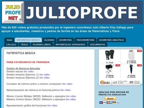 5 mejores webs matematicas - julioprofe