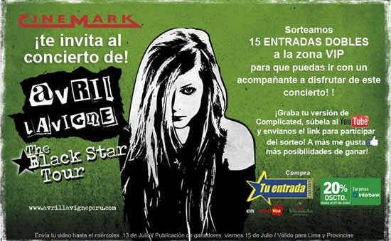 avril-lavigne-gana-entradas-concierto-The-Black-Star-Tour-2011-entradas-vip