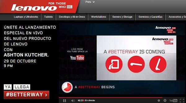 mira en vivo el evento de lenovo betterway 29 de octubre 2013