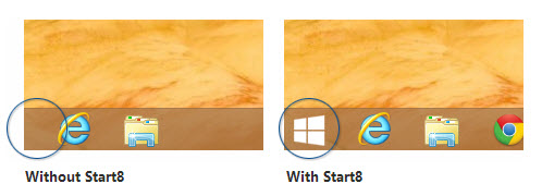 Add start button in Windows 8