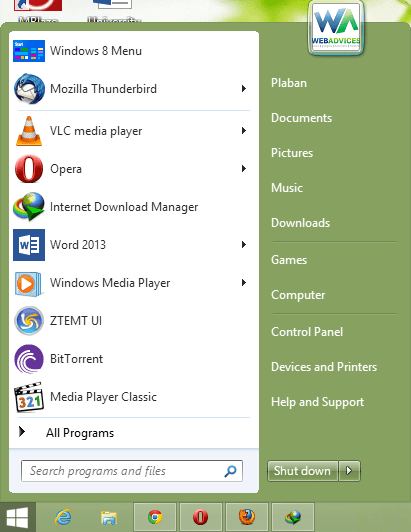 Windows 8 Start menu Stardock Start8 Brings Back the Old Start Menu to Windows 8