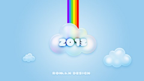 2013 clouds wallpaper by psdroman d5knomy Download Happy New Year 2013 Wallpaper for Desktop, iPad, Mobile