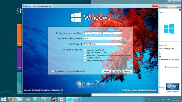 Windows 8 transformation pack 1024x575 Download Windows 8 Transformation Pack for Windows XP, Vista and 7