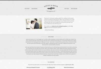 25+ wonderful wedding websites | Webdesigner Depot