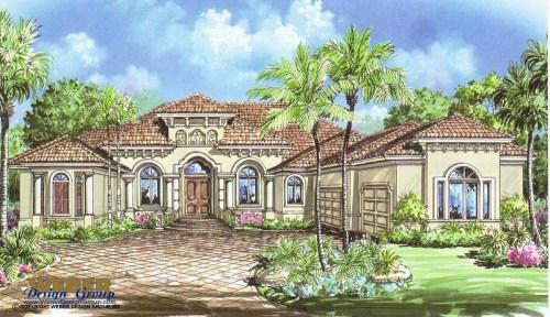Flossy Similar Plans Tuscan House Coastal Mediterranean Style Golf Course Home Plan Weber Design Group Edgewater Weber Design Group Indiana