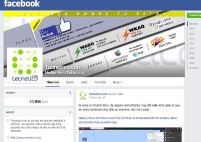 Tecnetico.com on Facebook