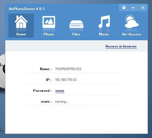 airphotoserver desktop