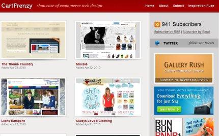 cartfrenzy homepage