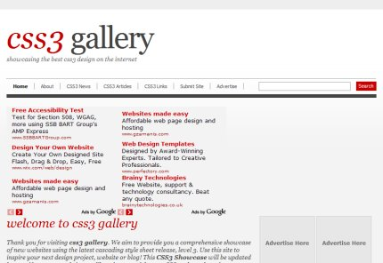 css3gallery homepage