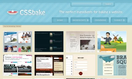 cssbake homepage