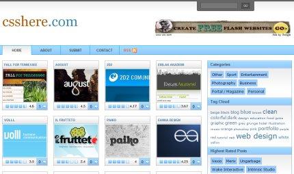 csshere homepage