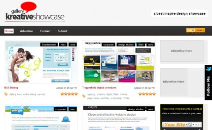 kreativeshowcase homepage