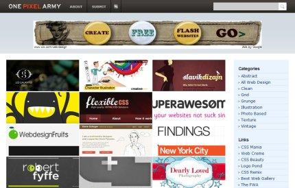 onepixelarmy homepage
